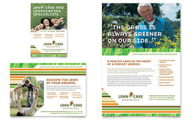 Lawn Care & Mowing - Flyer Sample Template