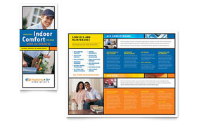 Heating & Air Conditioning - Microsoft Word Brochure Template