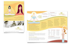 Yoga Instructor & Studio - Microsoft Word Brochure Template