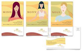 Yoga Instructor & Studio - Postcard Template