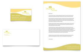 Yoga Instructor & Studio - Business Card & Letterhead Template Design Sample