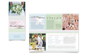 Wedding & Event Planning - Tri Fold Brochure Sample Template