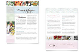 Wedding & Event Planning - Sales Sheet Template Design Sample