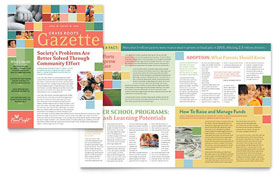 Non Profit Association for Children - Newsletter Template Design Sample