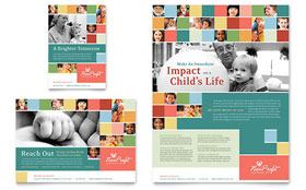 Non Profit Association for Children - Flyer & Ad Template Design Sample