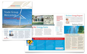 Utility & Energy Company - Newsletter Template Design Sample