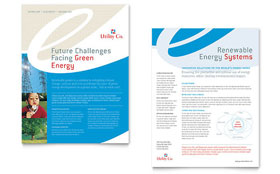 Utility & Energy Company - Sales Sheet Template