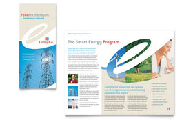 Utility & Energy Company - Tri Fold Brochure Template Design Sample