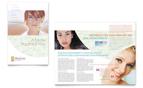Skin Care Clinic - CorelDRAW Brochure Template