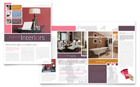 Interior Designer - Newsletter Template Design Sample