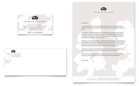 Interior Designer - Business Card Sample Template