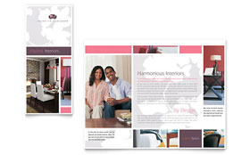 Interior Designer - Tri Fold Brochure Template Design Sample