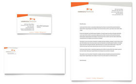 Commercial Real Estate Property - Business Card & Letterhead Template