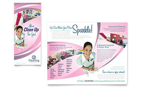 House Cleaning & Maid Services - Microsoft Word Brochure Template