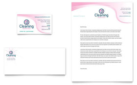 House Cleaning & Maid Services - Business Card & Letterhead Template