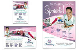 House Cleaning & Maid Services - Flyer & Ad Template Design Sample
