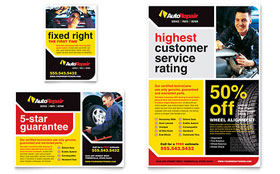 Auto Repair - Flyer & Ad Template Design Sample