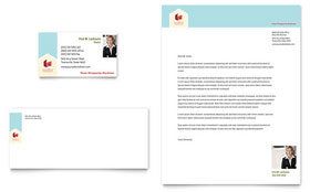 Home Real Estate - Business Card & Letterhead Template
