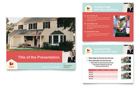 Home Real Estate - PowerPoint Presentation Template Design Sample