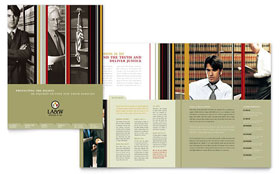 Lawyer & Law Firm - Brochure Template Design Sample