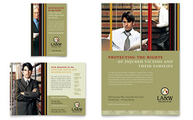 Lawyer & Law Firm - Flyer & Ad Template Design Sample