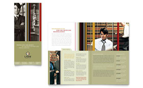 Lawyer & Law Firm - Tri Fold Brochure Template Design Sample