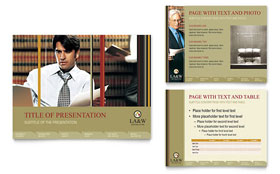 Lawyer & Law Firm - PowerPoint Presentation Template Design Sample