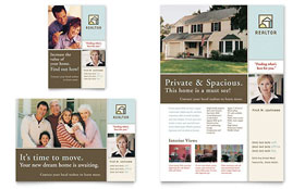 House for Sale Real Estate - Print Ad Sample Template