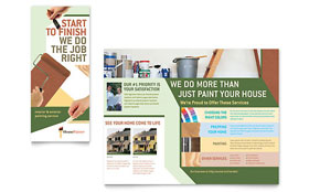 Painter & Painting Contractor - Graphic Design Brochure Template