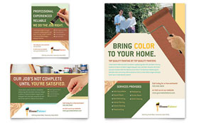 Painter & Painting Contractor - Flyer & Ad Template Design Sample
