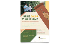Painter & Painting Contractor - Leaflet Template