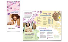 Nail Salon - Adobe Illustrator Brochure Template