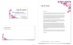 Nail Salon - Business Card & Letterhead Template Design Sample