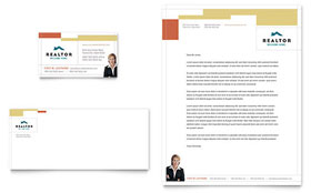 Realtor & Real Estate Agency - Business Card & Letterhead Template Design Sample