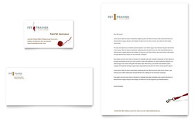 Pet Training & Dog Walking - Business Card & Letterhead Template Design Sample