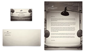 Photography Studio - Business Card & Letterhead Template Design Sample