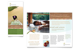 Health & Beauty Spa - Microsoft Word Brochure Template
