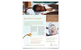 Health & Beauty Spa - Leaflet Template