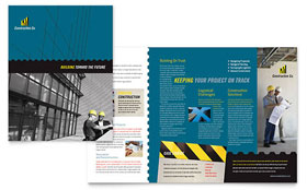Industrial & Commercial Construction - Apple iWork Pages Brochure Template