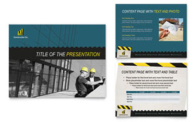Industrial & Commercial Construction - Microsoft PowerPoint Template