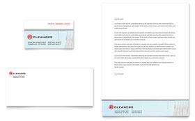 Laundry & Dry Cleaners - Business Card & Letterhead