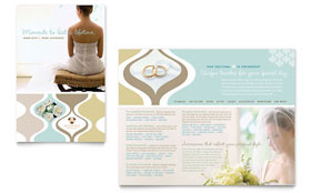 Wedding Store & Supplies - Microsoft Publisher Brochure Template