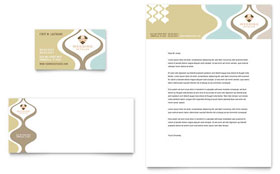 Wedding Store & Supplies - Business Card & Letterhead Template Design Sample
