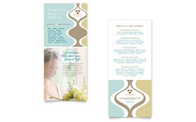 Wedding Store & Supplies - Rack Card Sample Template