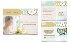 Wedding Store & Supplies - PowerPoint Presentation Template Design Sample