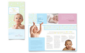 Infant Care & Babysitting - Brochure Template Design Sample