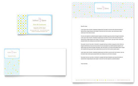 Infant Care & Babysitting - Business Card & Letterhead