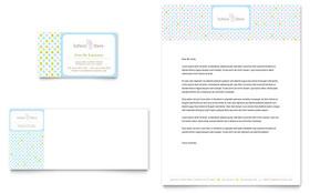 Infant Care & Babysitting - Business Card & Letterhead Template