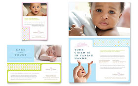 Infant Care & Babysitting - Print Ad Template