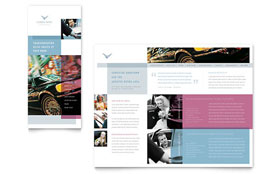 Limousine Service - Brochure Template Design Sample